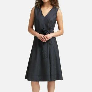 NWT $129 DKNY Women's Size 6 Navy Denim Dress